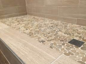non slip bathroom flooring ideas sliced java pebble tile shower floor subway tile outlet