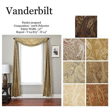 Vanderbilt Paisley Jacquard Scarf Swag Window Topper
