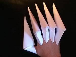 Faire Des Origami : comment faire des griffes en papier facile tuto d butant youtube ~ Nature-et-papiers.com Idées de Décoration