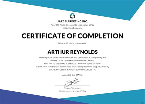 free certificate courses free course completion certificate template in adobe
