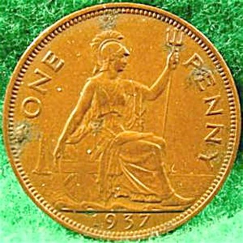great britain  penny cent coin  uk  joanns