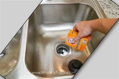 clean sink with baking soda cleaning kitchen sink with baking soda 13 simple