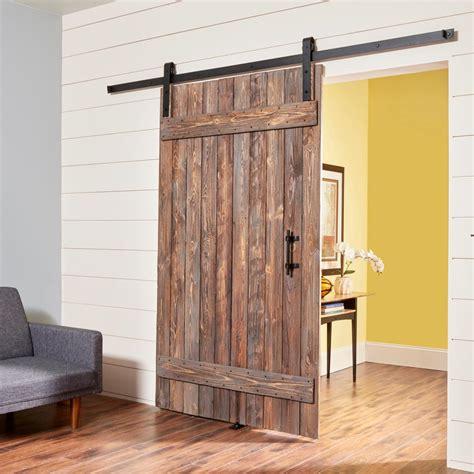 diy barn doors how to build a simple rustic barn door the family handyman