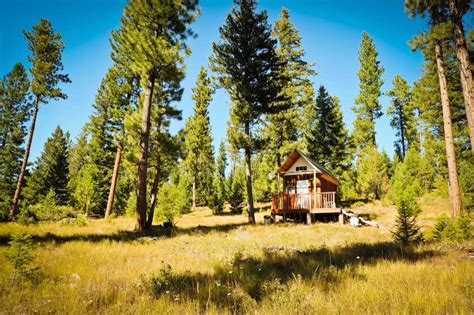 tiny  grid mountain cabin