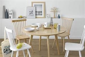 Table Cuisine Scandinave : o trouver une jolie chaise barreaux scandinave en bois ~ Teatrodelosmanantiales.com Idées de Décoration
