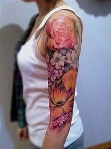 Beautiful, Flower sleeve tattoos and Births on Pinterest