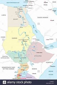 blue nile river map, egyptian water security vs ethiopian ...