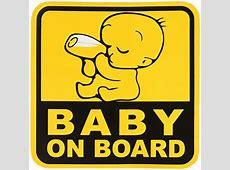 BABY ON BOARD Graphic Sticker Decal 1 Sticker 125 x 125