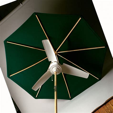 summer blast umbrella fan the green