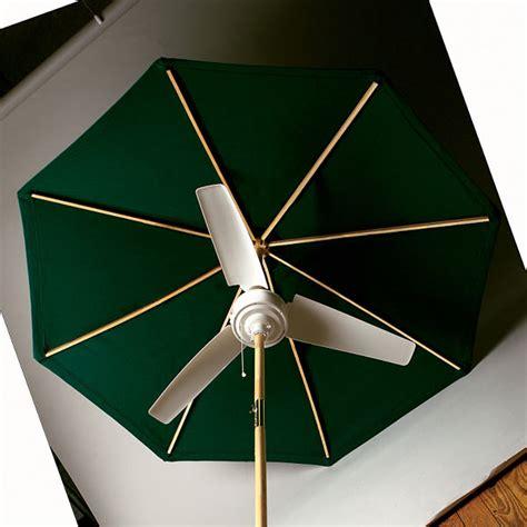 umbrella with fan and mister summer blast umbrella fan the green head