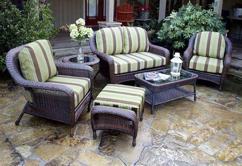 of wicker outdoor furniture corner
