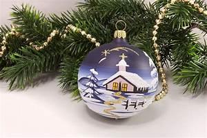 Weihnachtskugeln Aus Lauscha : 4 weihnachtskugeln 8 cm winterlandschaft blau aus lauscha ~ Orissabook.com Haus und Dekorationen