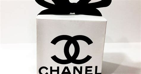 Diy Printable Chanel Logo Designer Favor Box