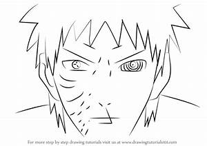 learn how to draw obito uchiha face from naruto naruto
