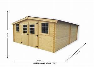 Abri jardin bois bandol super 4x5m 20m2 avec plancher for Abri de jardin 20m2