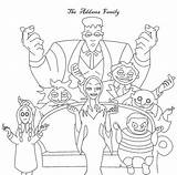 Addams Coloring Adams Famiglia Halloween Colorare Along Malvorlagen Printable Tons Others Movie Fun Adult Poolideen Friends Books Colouring Sheets Familia sketch template