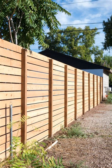 horizontal slatted fence  favorite diy app