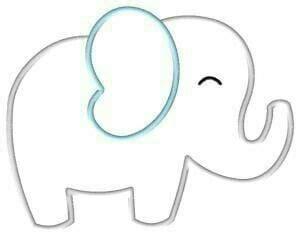 polagajah polaflanel anakgajah pattern flanel gajah