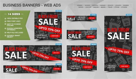 black friday banner designs pages psd eps