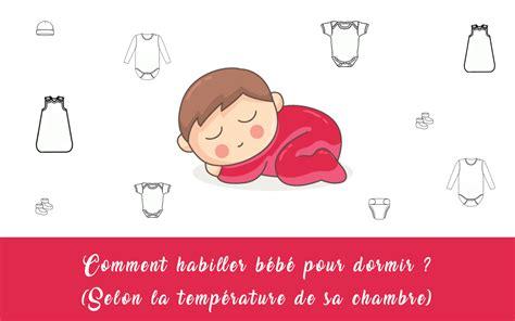 température chambre bébé nuit comment habiller bébé la nuit selon la température de sa