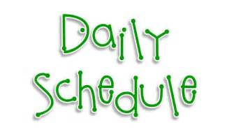 Image result for daily schedule clipart