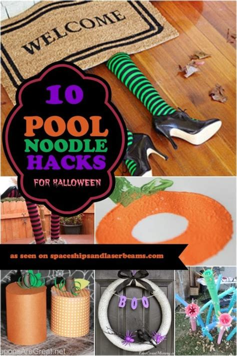 pool noodle hacks  halloween spaceships  laser