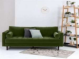 Canapé Velours Vert : tendance on craque pour le vert for t et vous elle d coration ~ Teatrodelosmanantiales.com Idées de Décoration