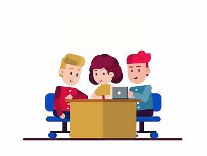 Equipo Trabajo Computer Teamwork Animated Study Think