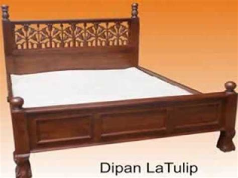 dipan minimalis tempat tidur kayu jati model terbaru