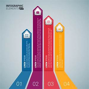 vertical business arrow infographic templates free vector With free illustrator templates