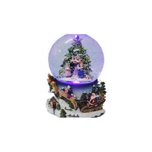 christmas carollers musical snow globe red wrappings