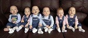 The Headrick sextuplets are seen in their Rago home. The ...