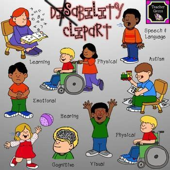 disability clipart set includes  images