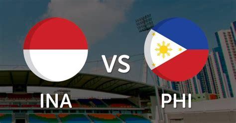 indonesia  filipina   jadwal siaran
