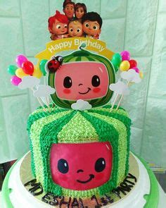 Cocomelon theme cake topper / cake centerpiece is perfect for a to decorate the themed cake digital file includes: Cocomelon Cake | Melon cake, Cake, Cute birthday cakes