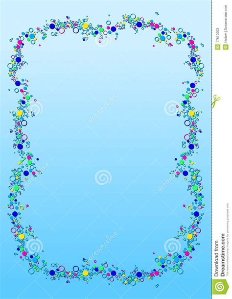bubble border stock vector illustration  cool notepaper