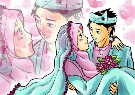 gambar anime islam romantis gambar kartun muslim dan muslimah lucu banget terbaru