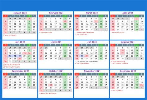 Hal itu mengacu pada kelander pendidikan nasional yang diterbitkan oleh pihak kemendikbud dan kemenag sebagai pedoman dalam penyusun. Kalender Indonesia Tahun 2021 - Kalender Indonesia