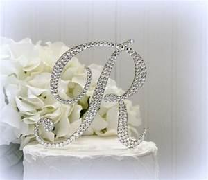 5quot monogram letter wedding cake topper cake topper With letter r cake topper