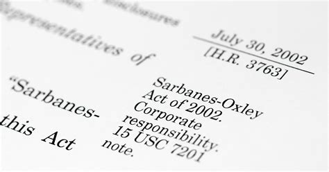 staying accountable  sarbanes oxley sox overview