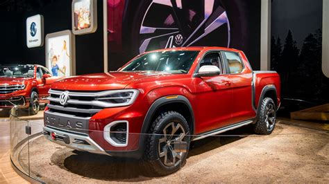 New Vw Truck by Vw Teases Potential Us Truck With Atlas Tanoak Concept