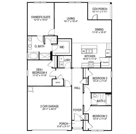 dr horton home plans luxury   horton eaton floor plan