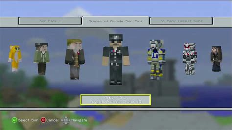 minecraft xbox    skin pack summer