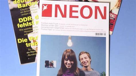 Gruner Und Jahr Aboservice by Gruner Jahr Stellt Trendmagazin Neon Zum Sommer Ein