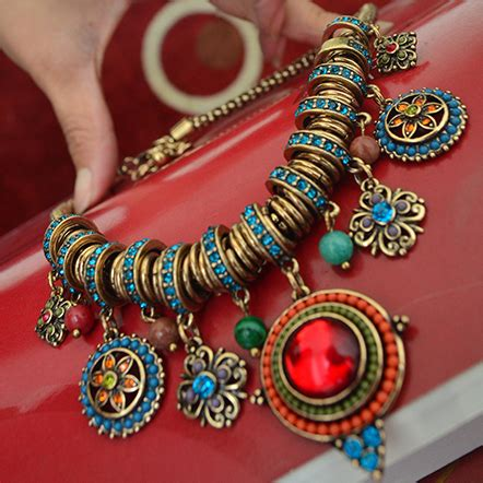 Tassel Ethnic Torques Black buy wholesale tribal jewelry from china tribal