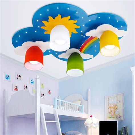 childrens bedroom chandeliers surface mounted children ceiling ls kids bedroom 11093 | Surface mounted Children Ceiling lamps Kids Bedroom Cartoon Rainbow decoration Chandelier Light E27 Light Source