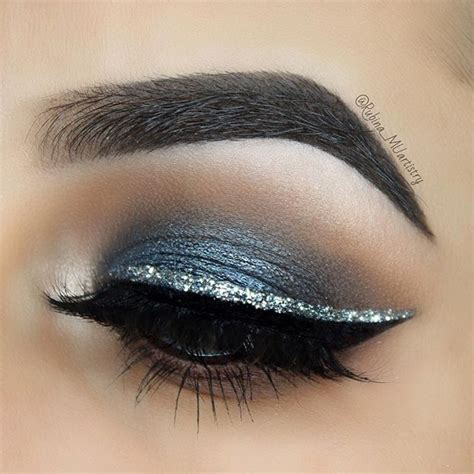 silver eyeliner ideas  pinterest   cat