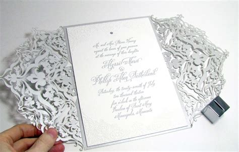 laser cut wedding invitations laser cut invitations and by digby