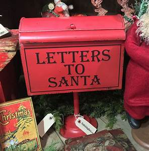 letters to santa mailbox on pedestal vintage christmas With mailbox for letters to santa