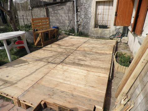 terrasse en palette photo de le bricolage notre petite vie